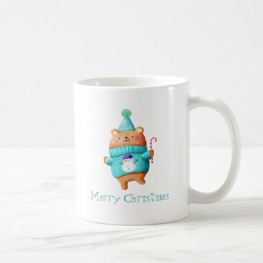 Christmas Teddy Bear Classic White Coffee Mug