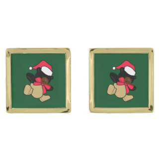 Christmas Teddy Bear Cufflinks