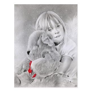 Christmas Teddy Bear Gift Postcard