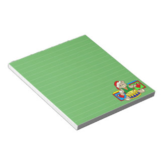 Christmas Teddy Bear Graphic, Lined Note Pad