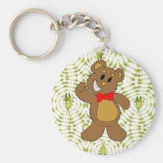 Christmas teddy bear keychain