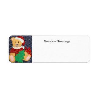 Christmas Teddy Bear Label