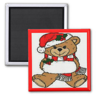 Christmas Teddy Bear Magnet