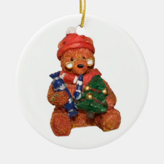 Christmas Teddy Bear  Merry Christmas Ornament