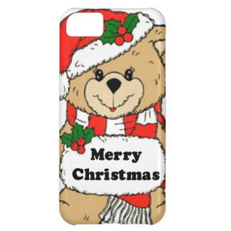 Christmas Teddy Bear Message iPhone 5C Cases