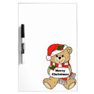 Christmas Teddy Bear Message Dry Erase Board