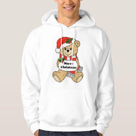 Christmas Teddy Bear Message Hoodie