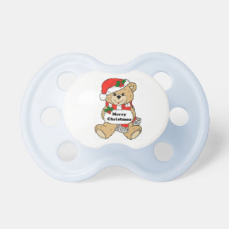 Christmas Teddy Bear Message Pacifier