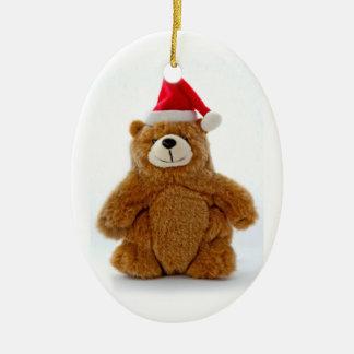 Christmas Teddy Bear Oval Christmas Ornament