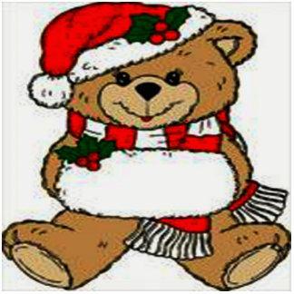Christmas Teddy Bear Photo Sculpture