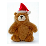 Christmas Teddy Bear Postcard