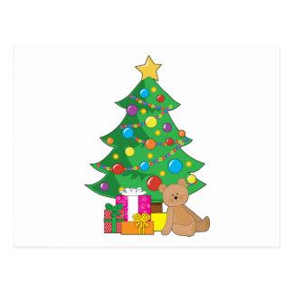 Christmas Teddy Bear Postcard