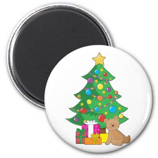 Christmas Teddy Bear Refrigerator Magnets