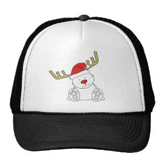 Christmas Teddy Bear Reindeer Trucker Hat