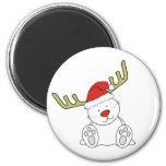 Christmas Teddy Bear Reindeer Magnet