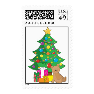 Christmas Teddy Bear Stamp