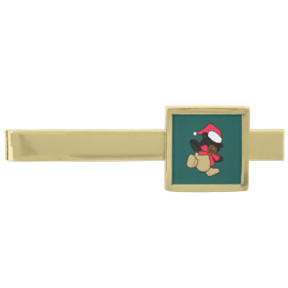 Christmas Teddy Bear Tie Bar