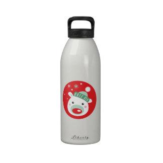 Christmas Teddy Bear Reusable Water Bottles