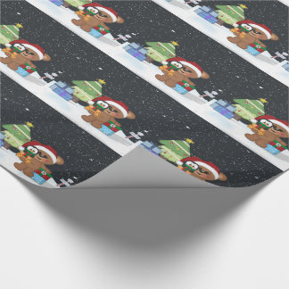 Christmas Teddy Bear Wrapping Paper