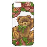 Christmas Teddy Bear Wreath Cover For iPhone 5C