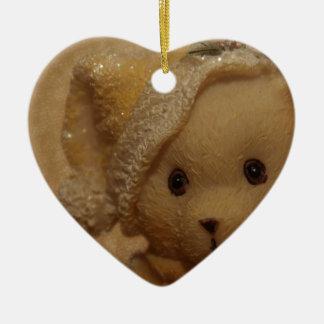 Christmas Teddy by Tutti Ceramic Ornament