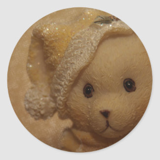 Christmas Teddy by Tutti Classic Round Sticker