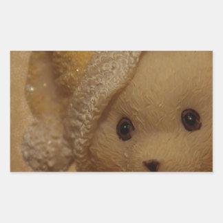 Christmas Teddy by Tutti Rectangular Sticker