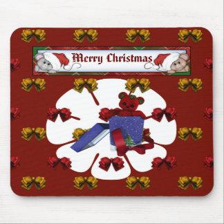 Christmas Teddy Mousepad