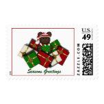 Christmas Teddybear and Gifts Postage