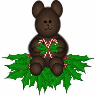 Christmas Teddybear Ornaments Photo Cut Outs