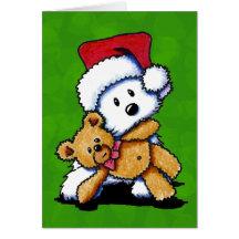 Christmas Teddybear Westie Cards