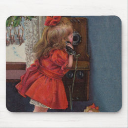 Christmas telephone mouse pad