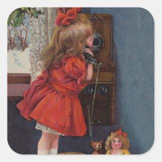 Christmas telephone sticker