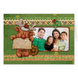 Christmas Template with funny reindeer Greeting Cards
