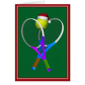 Christmas Tennis Ball and Rackets Card