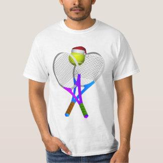 Christmas Tennis Ball and Rackets T-Shirt