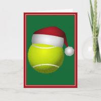 Christmas Tennis Ball Holiday Card
