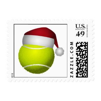 Christmas Tennis Ball Postage Stamp