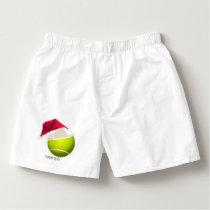 Christmas Tennis Ball Santa Hat Boxers