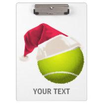 Christmas Tennis Ball Santa Hat Clipboard