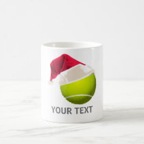 Christmas Tennis Ball Santa Hat Coffee Mug