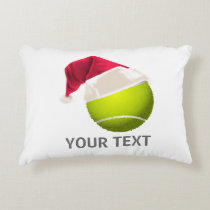 Christmas Tennis Ball Santa Hat Decorative Pillow