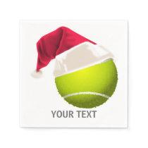Christmas Tennis Ball Santa Hat Paper Napkin