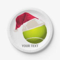 Christmas Tennis Ball Santa Hat Paper Plate