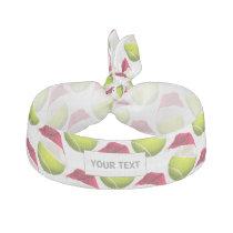 Christmas Tennis Ball Santa Hat Ribbon Hair Tie