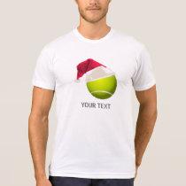 Christmas Tennis Ball Santa Hat T-Shirt