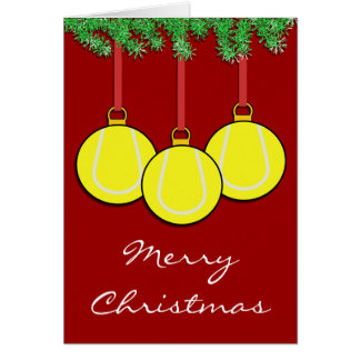 Christmas Tennis Card