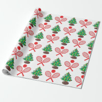 Christmas tennis pattern wrapping paper