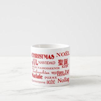Christmas Texts 6 Oz Ceramic Espresso Cup