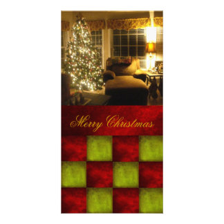 Christmas textured block Photocard Picture Card